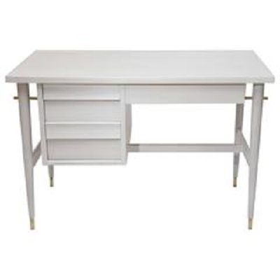 Bleached wood desk