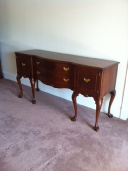 Antique walnut dresser